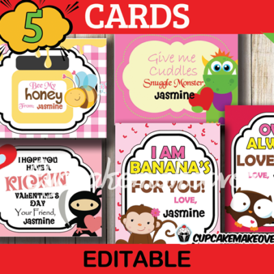 printable valentines day cards for kids