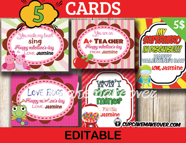 printable childrens valentines day cards