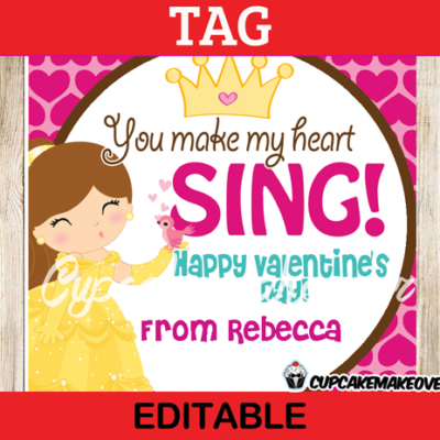 printable valentine belle editable tags labels