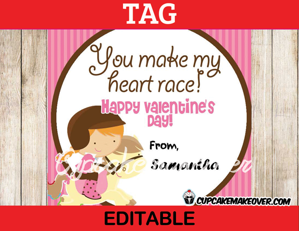 132-Valentine-Rider-Girl-Tags-D23