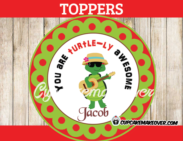 turtle-ly awesome valentines day stickers tags for boys