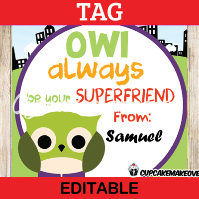 printable avengers hulk owl superhero tags valentines day