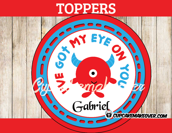 valentine's day eye on you toppers tags