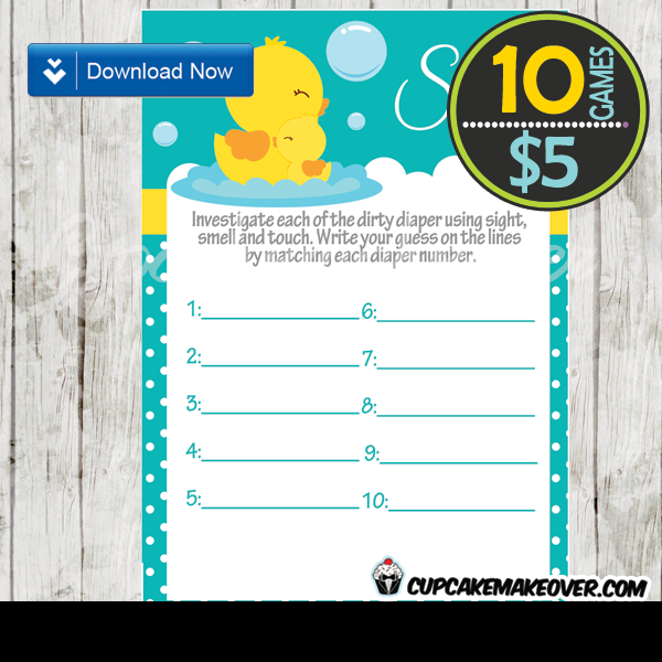 baby boy rubber duck games printable