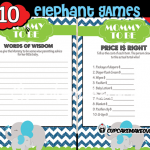 Blue Elephant Baby Shower game ideas