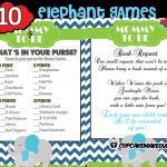 blue baby elephant baby shower theme