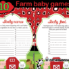 boy baby shower farm animals games