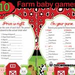 Farm Barnyard Baby Shower games