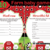 Barnyard Baby Shower Games printable