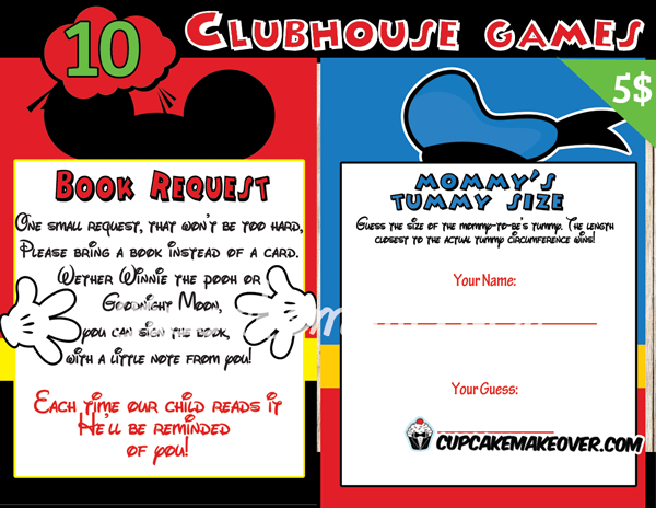 pin mickey mouse baby shower games template on pinterest