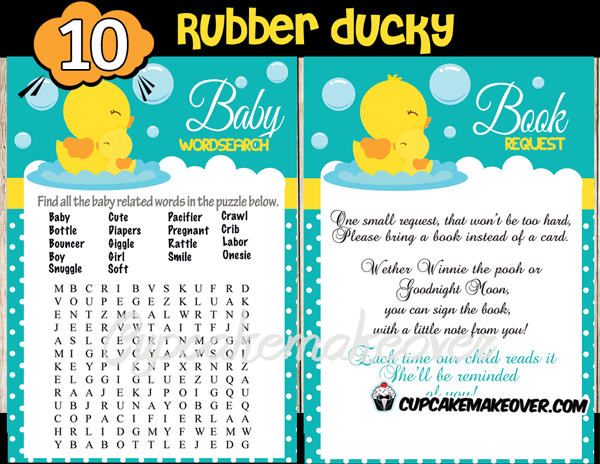 Baby Shower Rubber Duckies games