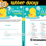 rubber ducky baby shower games