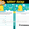 rubber duck baby shower game ideas