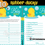 printable baby shower rubber ducky games