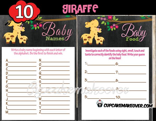 giraffe baby shower themes