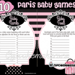 Paris Baby Shower Party Games