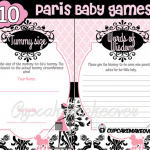 Chic PARIS Baby Shower DIY Party Printables
