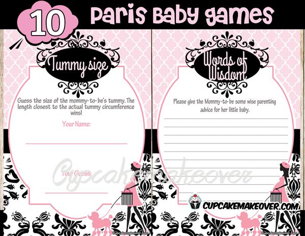 Chic PARIS Baby Shower DIY Party Printables