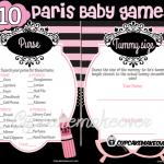 Printable Paris Baby Shower Games
