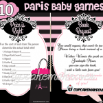 Paris themed baby shower games
