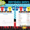 Super Hero Baby Shower fun games