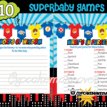 Super Hero Baby Shower fun games