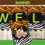 jungle safari baby shower party welcome banner