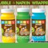 jungle safari baby shower boy napkin rings bubble wraps