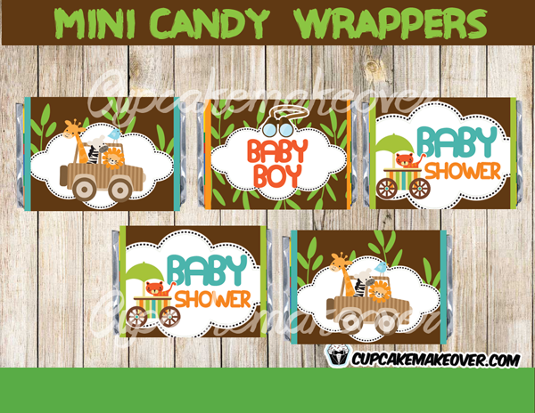 jungle animals baby shower package