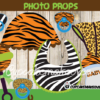 jungle animals printable baby shower photo booth props