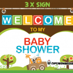 printable jungle boy baby shower party signs