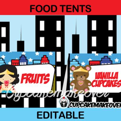wonder woman girl baby food tents