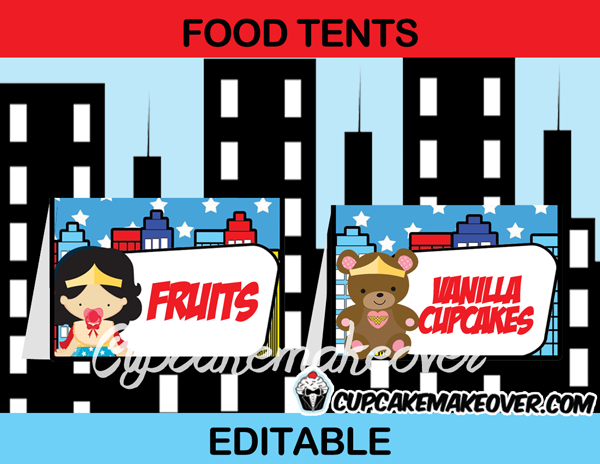 wonder woman girl baby food tents