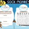 sock monkey baby boy shower printables