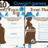 cowgirl blue baby shower games
