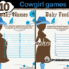 printable western mommy to be baby shower games