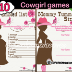 cowgirl baby girl printable baby shower games