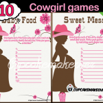 western themed baby shower games