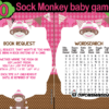 pink sock monkey baby shower games