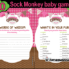 DIY baby shower sock monkey games
