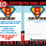 superhero baby boy shower games