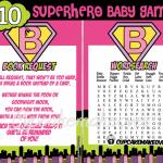 superhero baby girl shower games