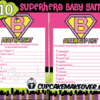 printable super baby girl shower games