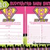 supergirl hero baby printable shower games