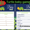 printable turtle baby boy shower games