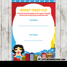 superhero wonder girl baby shower games printable