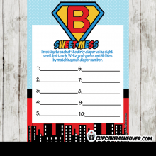 superhero themed baby shower games boys printable