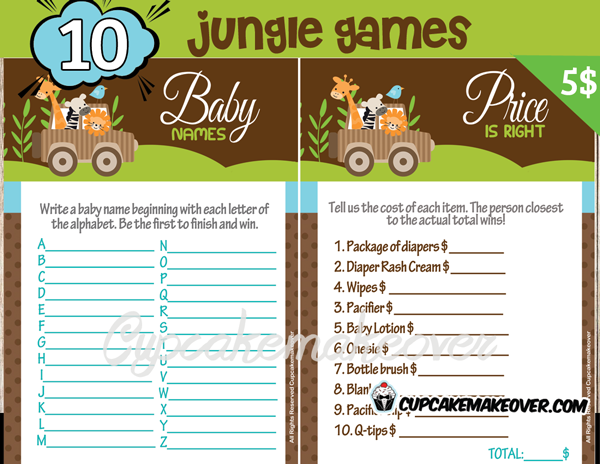 safari jungle animals baby shower decorations