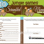 printable baby animals safari themed baby shower games