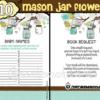 blue mason jar baby shower decorations boy games